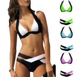 2016 Hot Swimwear Bikini Set Push Up Bikini Brazilian Sexy Bandage Beach Swimwear Ladies Swimsuit Bathing Suit Maillot De Bain