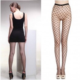 2016 New Fashion Autumn Winter Women's Sexy Pantyhose Nylon Tights Fishnet Pattern Tights Punk Stockings Seam Pantyhose