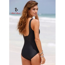 2017 One Piece Swimsuit Brazilian Bikini Set Sexy High Waist Beachwear Plus Size Swimwear Women Black Bathing Suit XXXXL BJ214