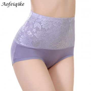 8Color Sexy Women Lace Panties Fashion Designer Body Shaper Hip Abdomen Tummy Control Briefs High Waist Underwear Women's Panty