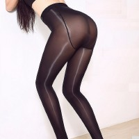 8D High density,high elasticity,anti hook sexy oil add-crotch Shiny pantyhose, shining Gloss hose,plus size Leggings  M-XXL