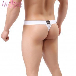 Avidlove Stylish Sexy Men Underwear Cotton Men Thong Briefs Men Underwear Penis Sexy Lingerie Panties Black White 2 Pieces U2