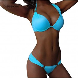 Bikinis Women Swimsuit Push Up Swimwear Female Sexy Mini Micro Bikini Brazilian 2016 Bandeau String Bathing Suit Neon Bikini Set