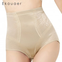 Ekouaer New Women Control Panties Body High waist Shapers Underwear women Sexy Lingerie High Elastic Pants