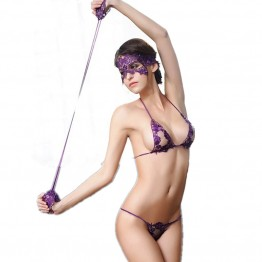 Exotic Apparel Babydolls & Chemises women intimates sexy lingerie set hot lace sexy  Mask + Hand circle + Bra Brief Sets