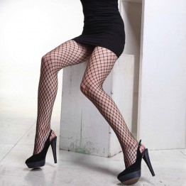 Free shipping 2016 New Fashion Compression Tights Sexy Women Big Mesh Fishnet Net Pattern Pantyhose Stockings Tights black