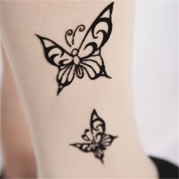 GraceAngie  1Pair Women Lady Pure Color Flesh Sexy Pantyhose Tattoo Tattoo Stockings Tights 11 Patterns to choose