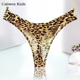 Hot Sale Leopard Women Sexy Seamless Underwear Women T Panties G String Women's Briefs Calcinha Lingerie Tanga Thong For Women