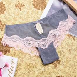 Hot Sale Sexy Women Cotton Lace Seamless Underwear Women T Panties G String Women's Briefs Calcinha Lingerie Tanga Thong