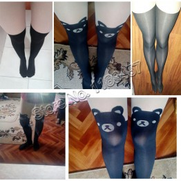 Hot sale! Fashion Gifts Fashion New Women Silk Stockings Pantyhose Ribbed Over Cat Rabbit Sexy Slim Tights