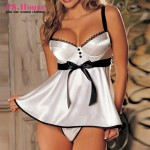 M-6XL Large Size Women Sexy Lingerie Red White Hot Exotic Apparel Sexy Sleepwear G-String Plus Size Babydolls Chemises NN903