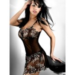 MOONIGHT Black Sexy Lingerie Hot Erotic Lingerie Lenceria Sexy Costumes Baby Doll Sexy Underwear Pajamas For Women