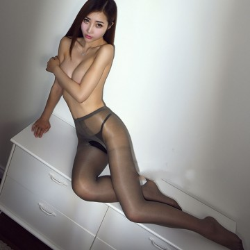 New Sexy See Through Open Crotch Oil Shiny Glossy Stockings Transparent  Pantyhose Tight T Crotch Club Dance Highs Tights FX100832719693184