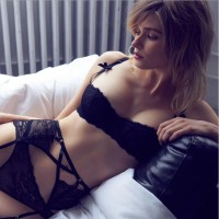 Red Black White bra set Fashion Sexy Floral Lace Beautiful Female Lingerie Women Underwears Push up Bra and Panties Set