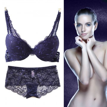 Sexy Lace Bra Set Push up Women's Underwear Set Padded Bra Luxury Lingerie Embroidery Floral Intimates Solid Color Brassieres32723024336