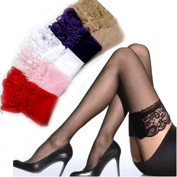 Thin Ultrathin Sexy Women color Tights Summer Stockings Lace nylon Top Thigh High Ultra Sheer Knee High Stockings Lingerie32547014421